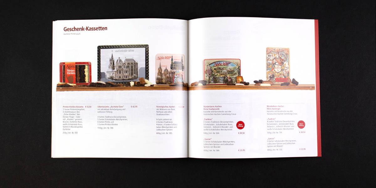 Printenkatalog für die Traditions-Bäckerei Nobis Printen aus Aachen