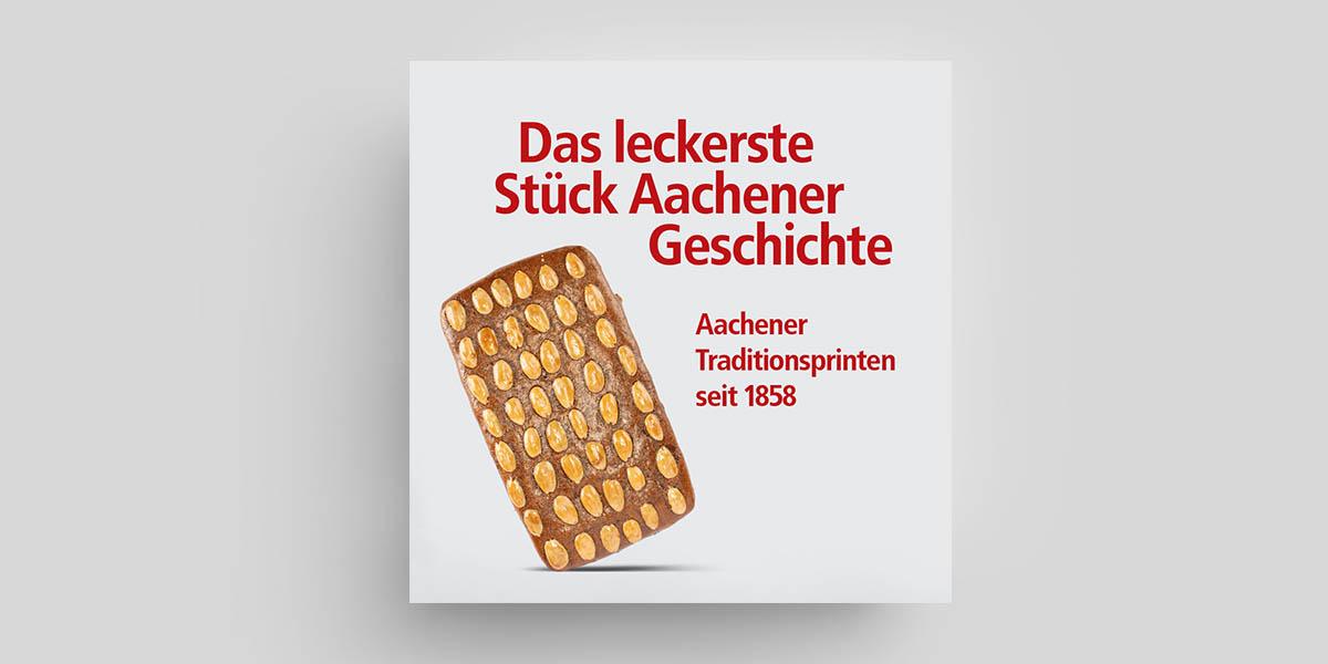Werbekampagne für die Traditions-Bäckerei Nobis Printen aus Aachen