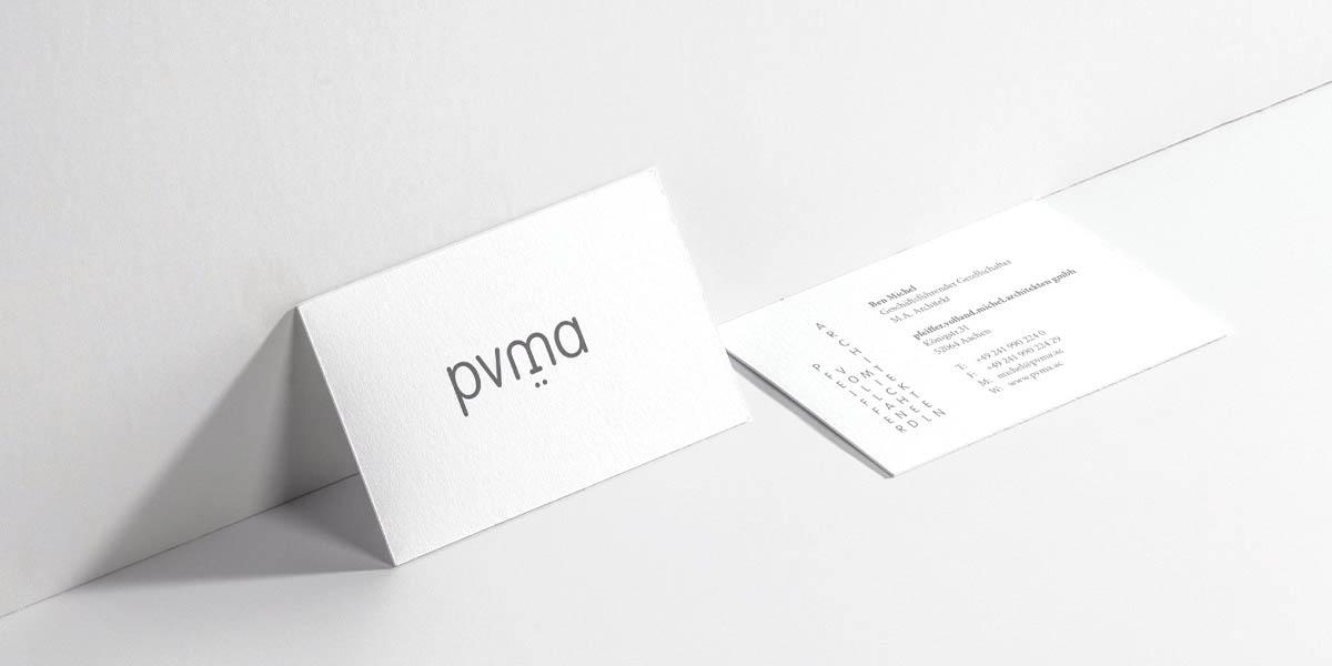Visitenkarte für das Architekturbüro pvma