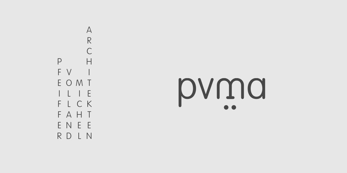 Logo für das Architekturbüro pvma