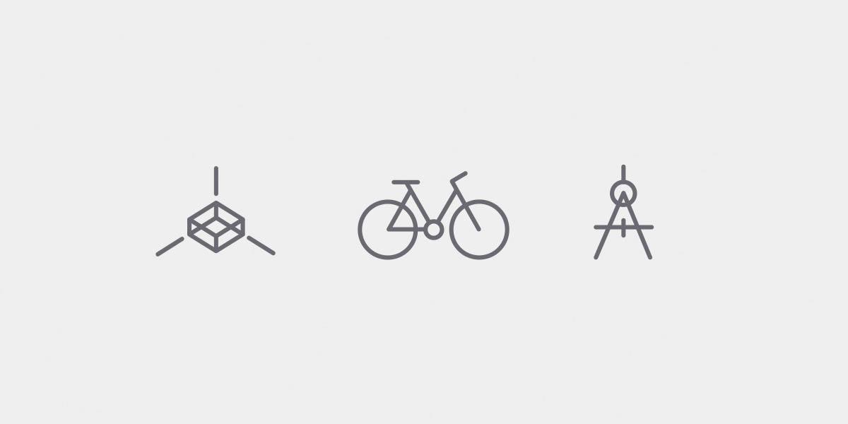 Icons für das Architekturbüro pvma