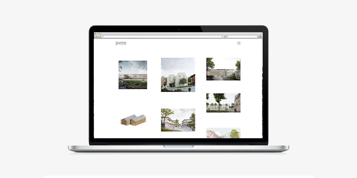 Webdesign für das Architekturbüro pvma